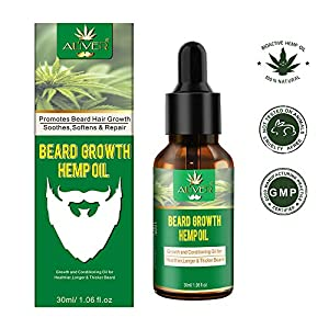 PREMIUM Natural Beard Hemp Oil with Infused Jojoba...