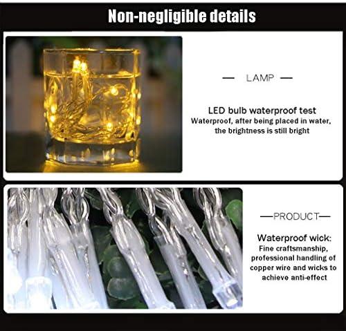 OUYANGLED LED-Fee-Schnur-Licht-Netz Angetrieben Outdoor-Lichterketten Multi-Color 8 Modi Wasserdicht For Party Wohnzimmer Schlafzimmer Terrasse Garten Weihnachten (Color : White-50m.400LEDs)