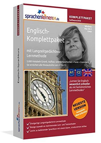 Englisch-Komplettpaket mit Langzeitgedächtnis-Lernmethode von Sprachenlernen24. Intensivkurs: Lernstufen A1 bis C2. Wortschatz & Grammatik. Software-DVD für Windows 10,8,7,Vista,XP/Linux/Mac OS X