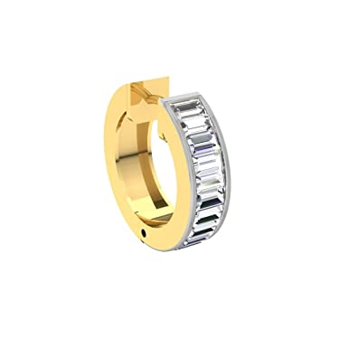 Buy TBZ The Original 18k 750 Yellow Gold and Diamond Nose Ring