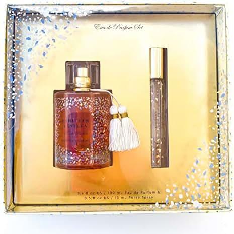 Tahitian Vanilla Eau De Parfum Gift Set by Tru Fragrance and Beauty - Blooming Fruity Floral Fragrance for Women - Exotic Jasmine, Coconut & Vanilla - Full Sized 3.4 oz Perfume & 0.5 oz Travel Spray
