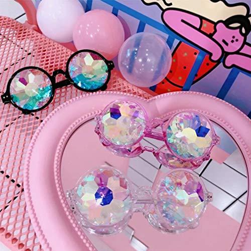 Couleurs Yueyue 3 Photo Drôle Expérience Festival Chic Rave De Unisexe Visuelle Intégré Blanc Props Mode Soirée Diffracté Lunettes pw145wCXxq