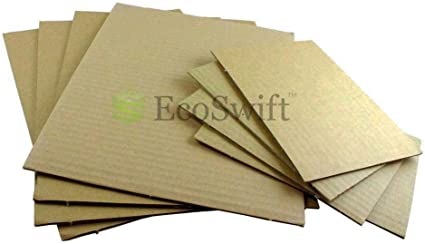 8.5 x 11 Kraft Corrugated Cardboard Pads Inserts Sheet 32 ECT 200 PCS
