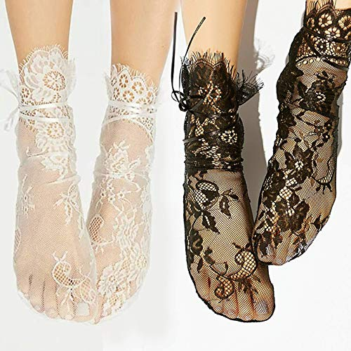 vangobeauty Bridal Socks Lace Socks Tulle Socks Wedding Socks Party Socks Fits 5.5-8 US women shoe
