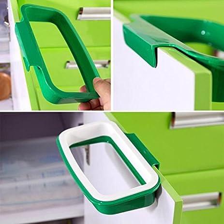 bag holder in cabinet trash can bag hanging kitchen cupboard door back style stand trash