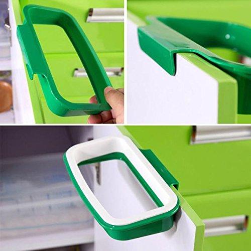 Bag Holder In Cabinet Trash Can - Bag Hanging Kitchen Cupboard Door Back Style Stand Trash Garbage Bags Storage Holder Rack - Trash Bag Holder