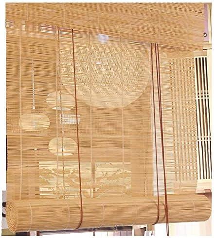 Cortina Invierno Espesar-JINRONG Cortina De Bambú Persiana Enrollable Bambú Estores De Bambú-Luz De Filtrado De La Sala De Partición Sistema De Elevación Inalámbrico Persianas Enrollables De Bambú: Amazon.es: Hogar