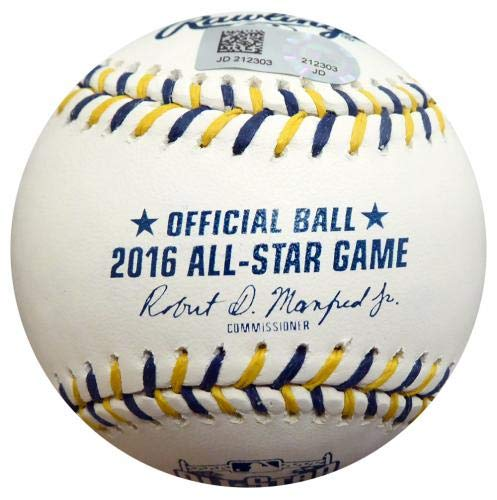 Mike Trout Signed Ball Official 2016 All Star Game Holo Stock #145111 Autographed Baseballs