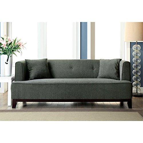 Furniture of America Waylin Tufted Fabric Sofa in Gray