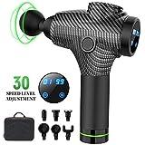 Massage Gun, 30 Speeds Handheld Electric Cordless Body Massager Super...