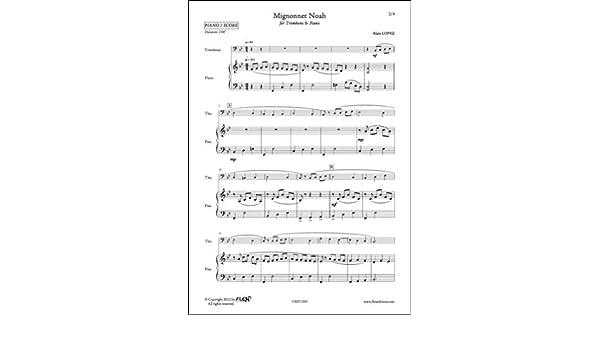 PARTITURA CLASICA - Mignonnet Noah - A. LOPEZ - Trombone and Piano ...