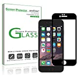 iPhone 7 Screen Protector Glass (Full Coverage) with Compatible Slim-Fit Bumper Case, amFilm Tempered Glass Screen Protector Edge to Edge for iPhone 7 with Slim-Fit Bumper Case
