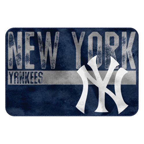 The Northwest Company MLB New York Yankees Embossed Memory Foam Rug, One Size, Multicolor