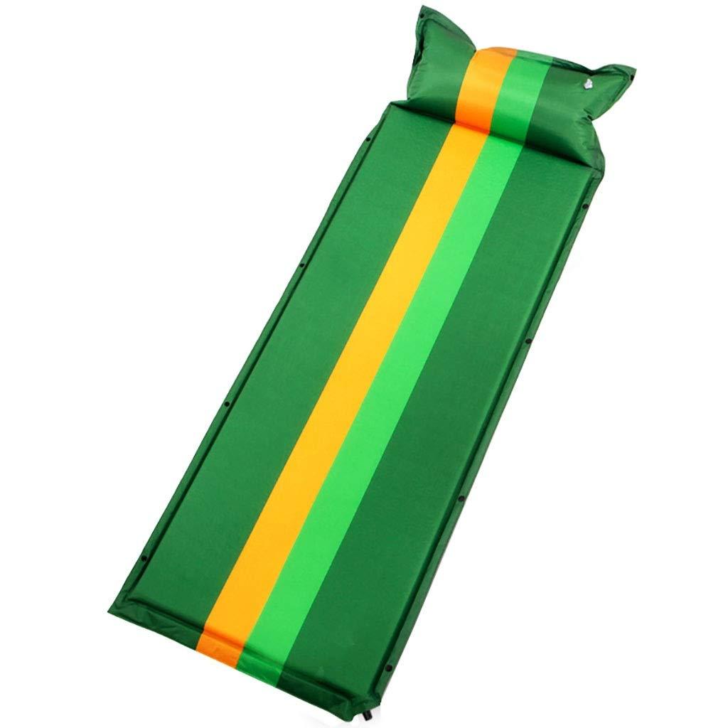 Rcd Einzelnes Luftbett-Schlafen-Auflagen-Selbstaufblasen Ultra leichtes Portable u. Das Falten kann gespleißt Werden Zelt-Isomatte-Feuchtigkeits-Kissen Falten Bett zusammen (Farbe   Grün)