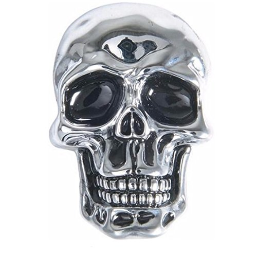 Emblem Kleber Metall Totenkopf Relief Skull AMT CUSTOM