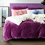 thick duvet cover coral velvet quilt cover single cover-H 200x230cm(79x91inch)