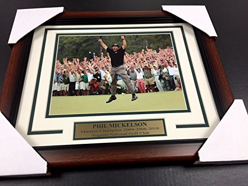 2006 8x10 Framed Photo - PHIL MICKELSON 2004 2006 2010 AUGUSTA MASTERS CHAMPION 8X10 PHOTO FRAMED