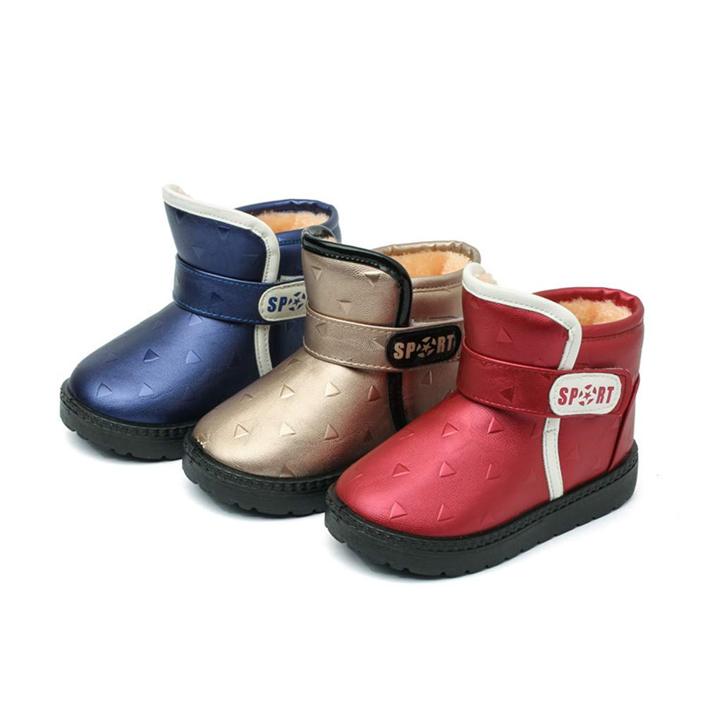 Kids Winter Snow Boots Waterproof Outdoor Warm Faux Fur Lined Shoes