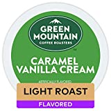 Green Mountain Coffee Roasters Caramel Vanilla Cream, Single Serve Coffee K-Cup Pod, Flavored Coffee, 12 count (Pack of 6)