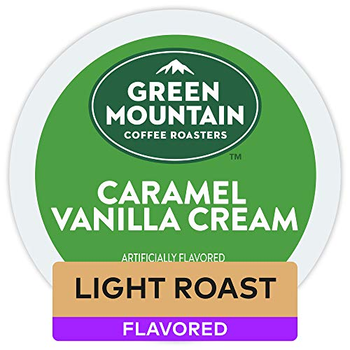 - Green Mountain Coffee Caramel Vanilla Cream Keurig Single-Serve Light Roast Coffee K-Cup Pods, 32 Count