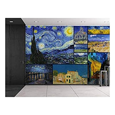 Grand Craft, Made For You, Peel and Stick Wallpapaer Famous Paintings Collage by Vincent Van Gogh Removable Large Wall Mural Creative Wall Decal