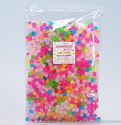 Amazon Com Konpeito Japanese Tiny Sugar Candy Crystal 100g Rainbow Big Bag 500g Grocery Gourmet Food