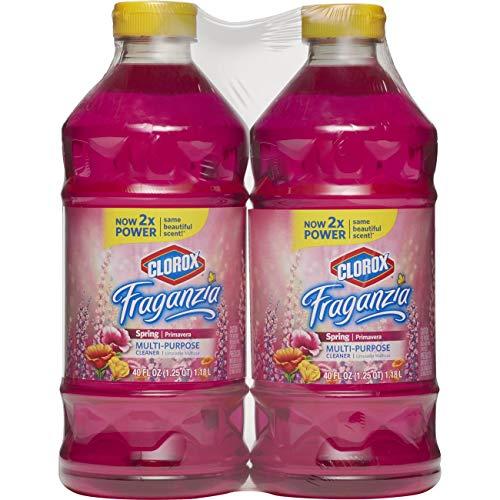 (Clorox® Fraganzia® Multi-Purpose Cleaner, Spring Scent, Two 40 Fl. Oz Bottles (80 fl oz total))