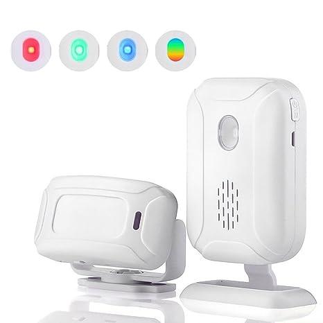Teepao - Alarma de Seguridad inalámbrica para el hogar – 1 Receptor y 1 Sensor de