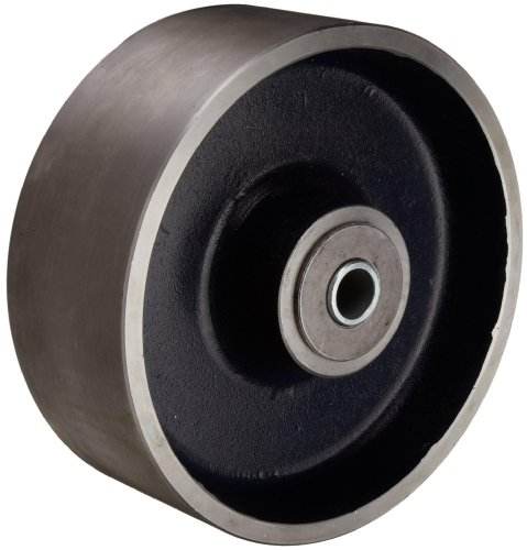 RWM Casters FSR-0830-12 8' Diameter X 3' Width Tread Forged Steel Wheel With Roller Bearing For 3/4' Axle, 5500 lbs Capacity