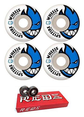 アレイゆるく振り向く51 mm Spitfire Wheels Bighead Wheels with Bones Bearings – 8 mm Bones Super Redsスケート定格ベアリング – 2アイテムのバンドル