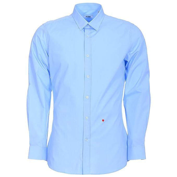estilo clásico 2019 real sensación cómoda Moschino Camisa Formal - Para Hombre Azul Light Blue Solid ...