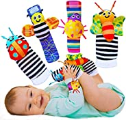 BABYCHINO Foot Finders & Wrist Rattles for Infants Developmental Texture Toys for Babies & Infant Toy