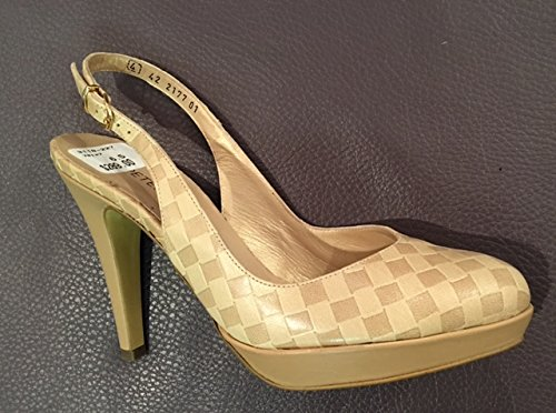 leather PETER slingback KAISER 5 beige US 6 xwafC