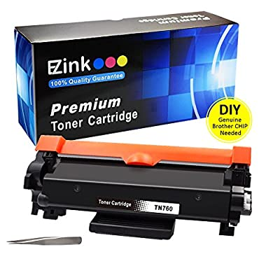 E-Z Ink (NO CHIP) Compatible Toner Cartridge Replacement For Brother TN760 TN 760 TN730 TN770 for Brother HL-L2350DW HL-L2395DW L2390DW L2370DW DCP-L2550DW MFC-L2710DW MFC-L2750DW L2730DW (1 Black)