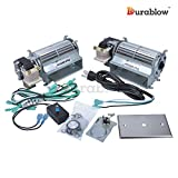 BLOTSDV, BLOTBLDV, UZY4 Replacement Dual CFM 80 Fireplace Blower KIT for Monessen Hearth Systems, Vermont Castings, Majestic, FMI, Security