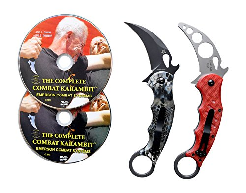 Emerson Karambit Trainer (Fox 479 Kryptek Neptune Karambit & DVD Training Package - 3 in 1)