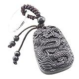 FOY-MALL Dragon Ebony Wood Carved Men Women Car/Bag Key Chain M1148