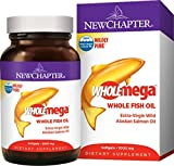 New Chapter Wholemega Fish Oil Supplement with Omega-3, Vitamin D3 and Astaxanthin - 120 Count
