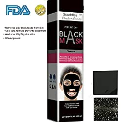 Scuddles Blackhead Remover Mask, Anti-wrinkle Peeling charcoal Face Cleansing, For Men & Women for Face Nose Acne Treatment Oil Control , Remove Acne From Pores Deep Cleaning Skin Organic, (SC-BM-03)