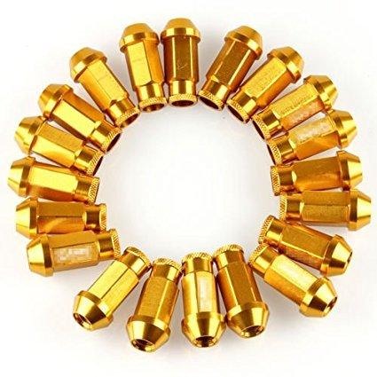 Golden 20 pz ruota dadi M12 x1.25 mm Intergra oro LILAUTO