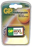 GP 9V NiMH 8.4v 200mAh rechargeable battery