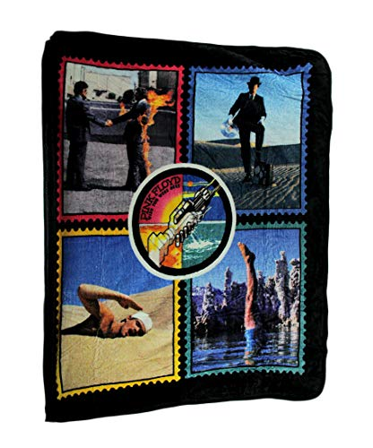 Ramatex Polyester Throw Blankets Pink Floyd Wish You were Here Plush Throw Blanket 60 X 50 60 X 0.25 X 50 Inches Black (Pink Floyd Blanket)