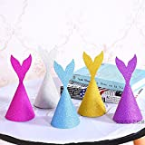 XADP 12pcs Mermaid Tail Party Hats With Ropes DIY