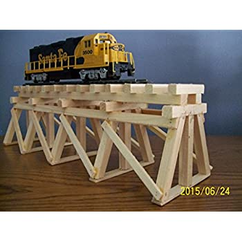 Dechants Railroad Express Ho Scale Wooden Bridge Trestle Paintable Stainable