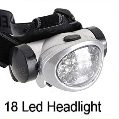 PhilMat 18 LED cabeza faro linterna luz lámpara linterna senderismo