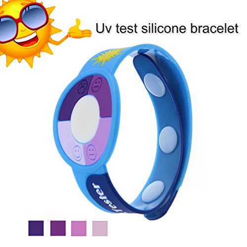 JideTech Round Shape Smile Face Ultraviolet Uv Tester with Color Changing Indicator Detector, 2015 Best Gift for Friends/Relatives and Loves Skin Protection in Sun Summer (Light Blue)