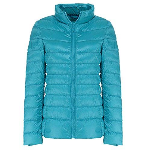 Lightweight Coat Packable Jacket Down Light Winter Women Blue Lovache Zgq7SxnPP