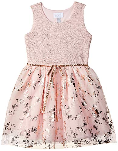 Pink Dress For Girl (The Children's Place Big Girls' Sleeveless Pleated Dress, Pink Tinge, L)