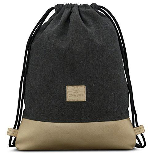 f873e0ebef Johnny Urban Drawstring Bag Anthracite/Gold Gymsack Gym Sack Men & Women