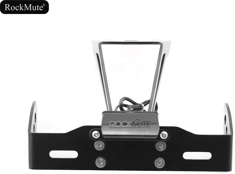LED License Plate Bracket Holder Compatible With Suzuki GSX-S750 GSX-S1000 GSX-S1000F 2015 2016 2017 2018 GSXS Tail Tidy Fender Eliminator Rear Mudguard Simple Design Waterproof Billet Aluminum Black